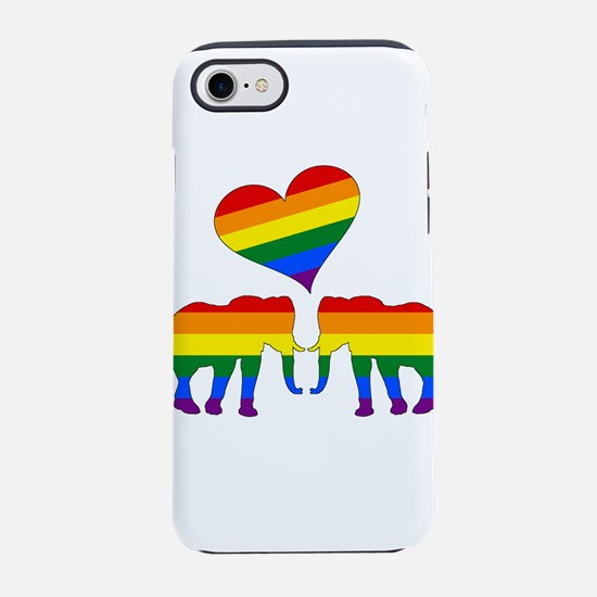 Rainbow elephants iPhone 7 Tough Case