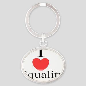 equality Oval Keychain