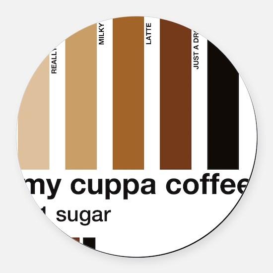 my-cuppa-coffee-1-sugar Round Car Magnet