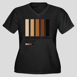 my-cuppa-cof Women's Plus Size Dark V-Neck T-Shirt
