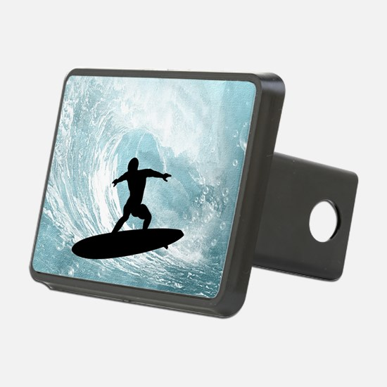 Sport, surfboarder with wave Hitch Cover
