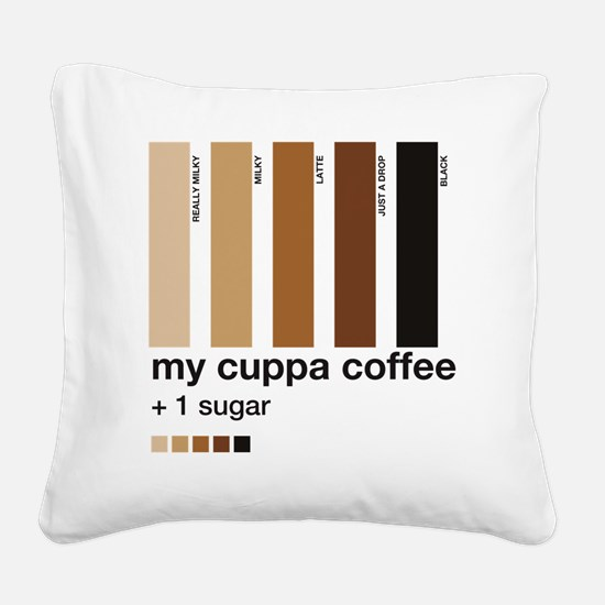 my-cuppa-coffee-1-sugar Square Canvas Pillow