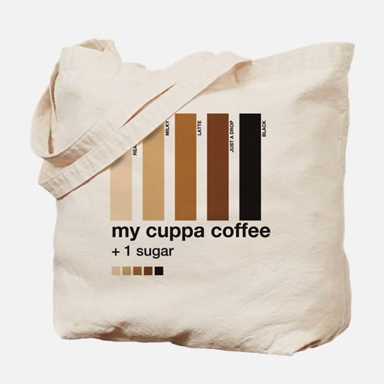 my-cuppa-coffee-1-sugar Tote Bag