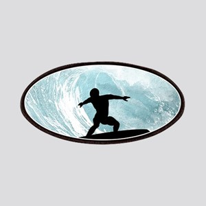 Sport, surfboarder with wave Patch
