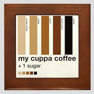 my-cuppa-coffee-1-sugar Framed Tile