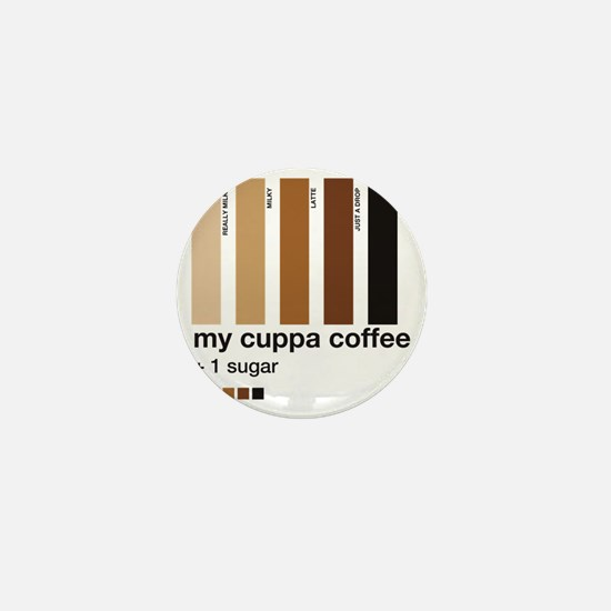my-cuppa-coffee-1-sugar Mini Button