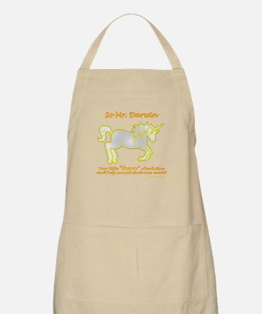 Unicorns - and the theory of evolution BBQ Apron