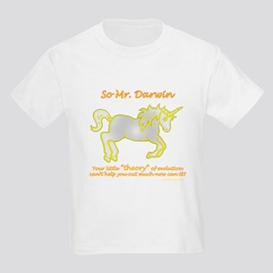 Unicorns - and the theory of evolution Kids T-Shir