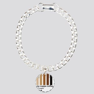 my-cuppa-coffee-2-sugars Charm Bracelet, One Charm