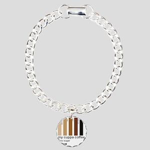 my-cuppa-coffee-no-sugar Charm Bracelet, One Charm