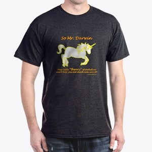 Unicorns - and the theory of evolution Dark T-Shir