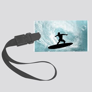 Sport, surfboarder with wave Luggage Tag