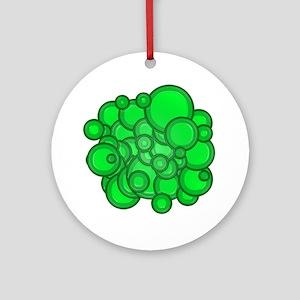 Green Circles Round Ornament