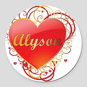 Alyson-Valentines Round Car Magnet