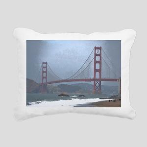 Golden Gate Bridge Rectangular Canvas Pillow