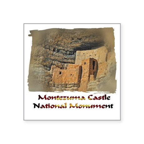"Montezuma Castle Square Sticker 3"" x 3"""