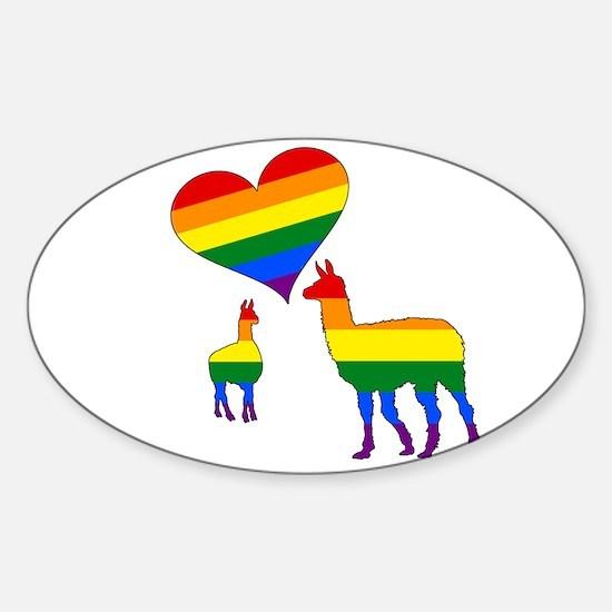 Rainbow llamas Decal