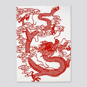 dragon_red 5'x7'Area Rug