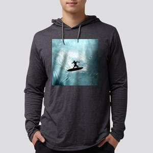 Sport, surfboarder with wave Long Sleeve T-Shirt