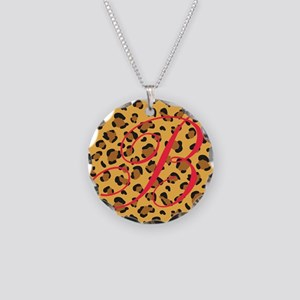 Personalizable Initial on Cheetah Print Necklace