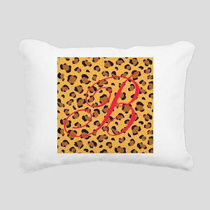 Personalizable Initial on Cheetah Print Rectangula