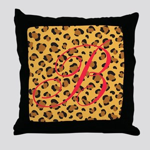 Personalizable Initial on Cheetah Print Throw Pill