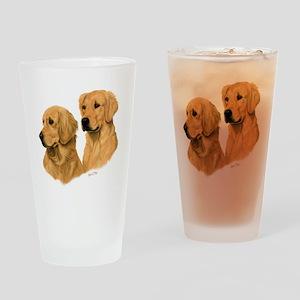 Golden Dark Drinking Glass