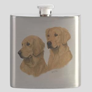 Golden Dark Flask