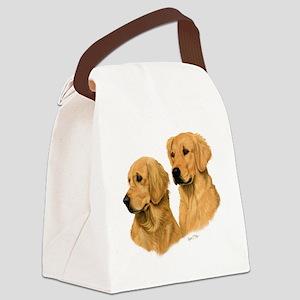 Golden Dark Canvas Lunch Bag