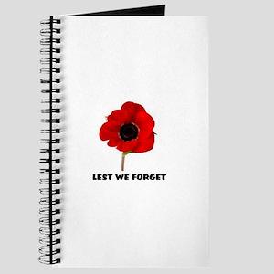 POPPY - LEST WE FORGET Journal