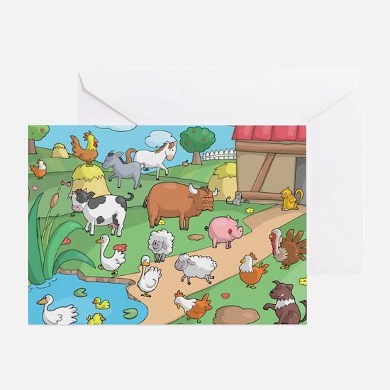 Farm Animals Greeting Card