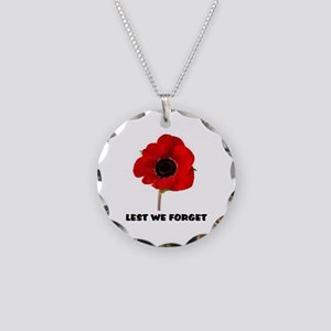 POPPY - LEST WE FORGET Necklace Circle Charm