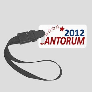 santorum stars 2012 Small Luggage Tag