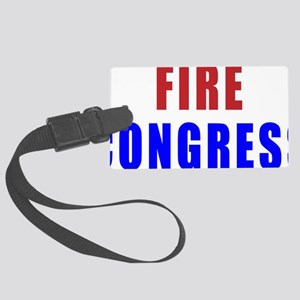 fire_congress_stacked Large Luggage Tag
