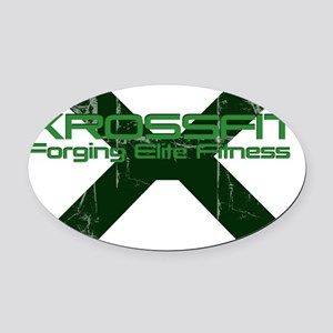 Xross fitness Oval Car Magnet