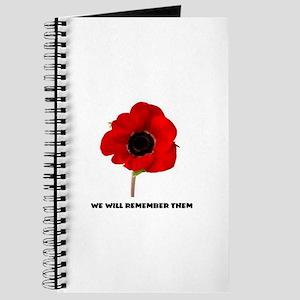 POPPY - WE WILL REMEMBER THEM Journal