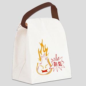 Hot Air dark shirt 2 Canvas Lunch Bag