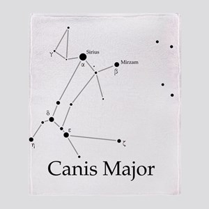 Canis Major Throw Blanket