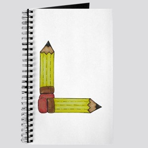 L Initial Pencil Journal