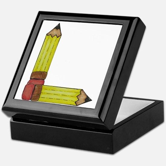 L Initial Pencil Keepsake Box