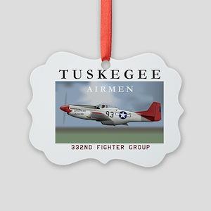 P51D 332nd FG Picture Ornament