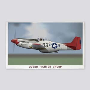 P51D_redtail 3'x5' Area Rug