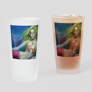 maroon merm Drinking Glass