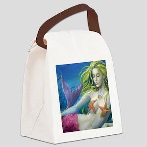 maroon merm Canvas Lunch Bag