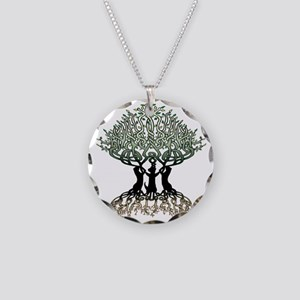 Ferret Tree of Life 2 Necklace Circle Charm