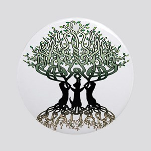 Ferret Tree of Life 2 Round Ornament