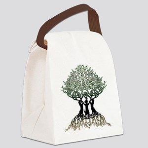 Ferret Tree of Life 2 Canvas Lunch Bag