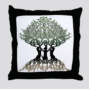 Ferret Tree of Life 2 Throw Pillow