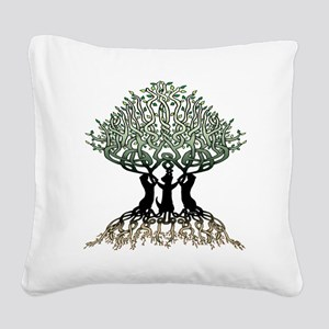 Ferret Tree of Life 2 Square Canvas Pillow