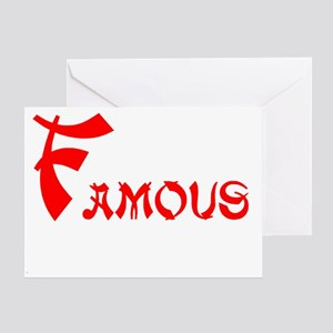 Famous stars and straps greeting cards cafepress famous greeting card m4hsunfo